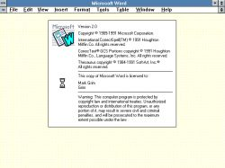 Microsoft Word 2.x (Windows)